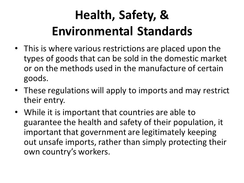 Health, Safety, & Environmental Standards