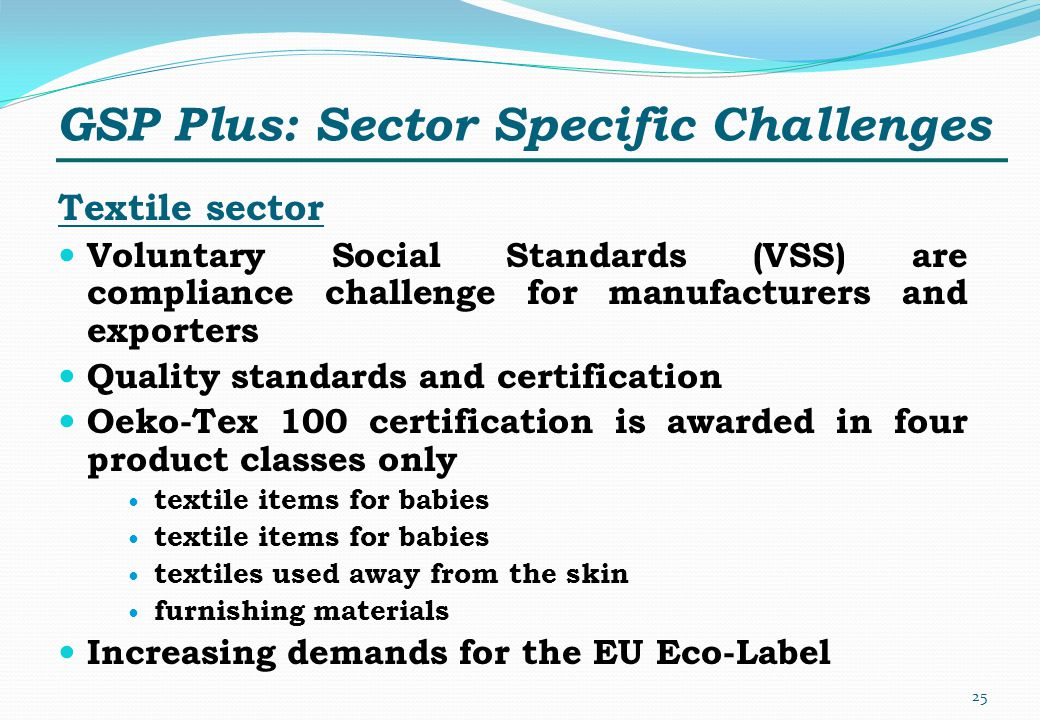 GSP Plus: Sector Specific Challenges