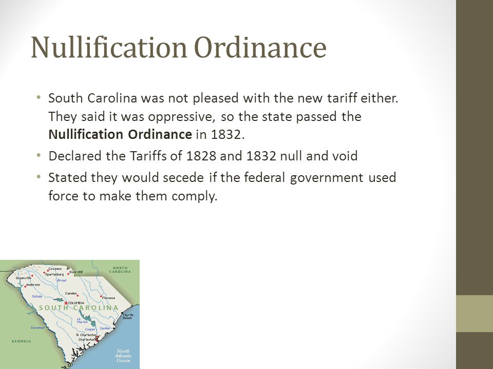 Nullification Ordinance