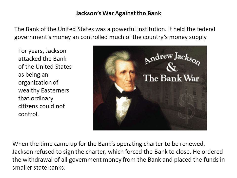 Jackson's War Against the Bank