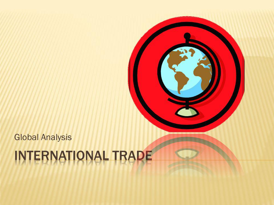 Global Analysis International Trade