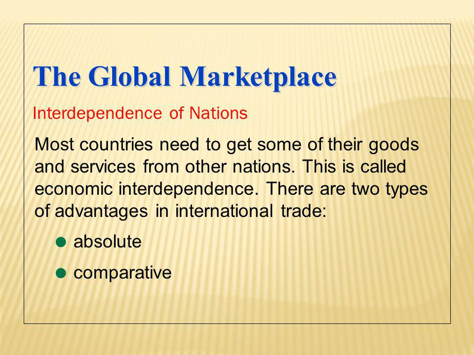 The Global Marketplace