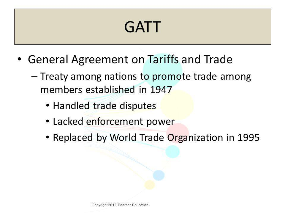Gatt General Agreement On Tariffs And Trade Ppt Video Online Download
