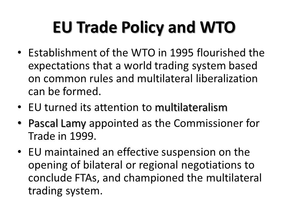 EU Trade Policy and WTO