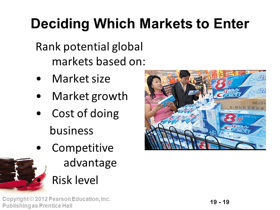 Deciding Which Markets to Enter