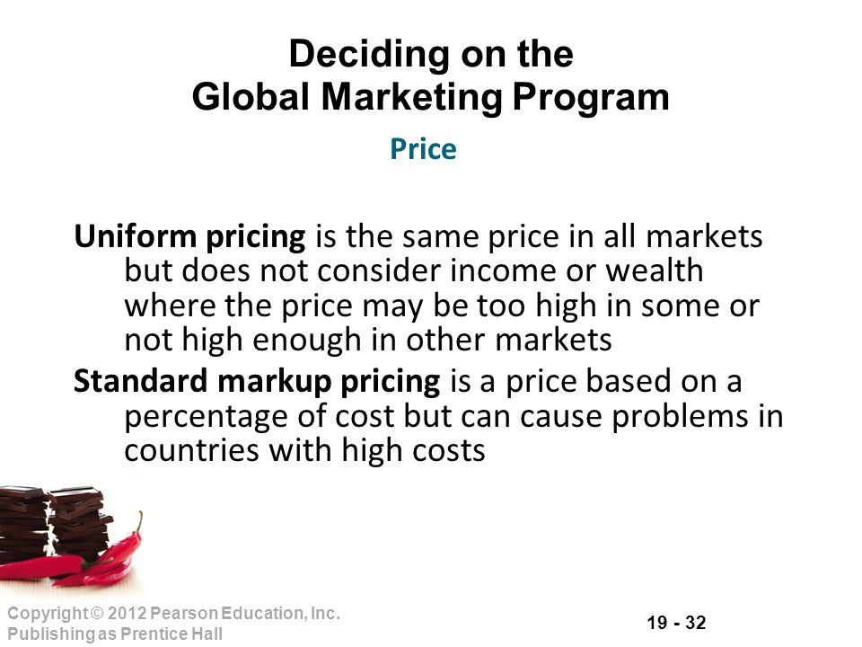 Deciding on the Global Marketing Program