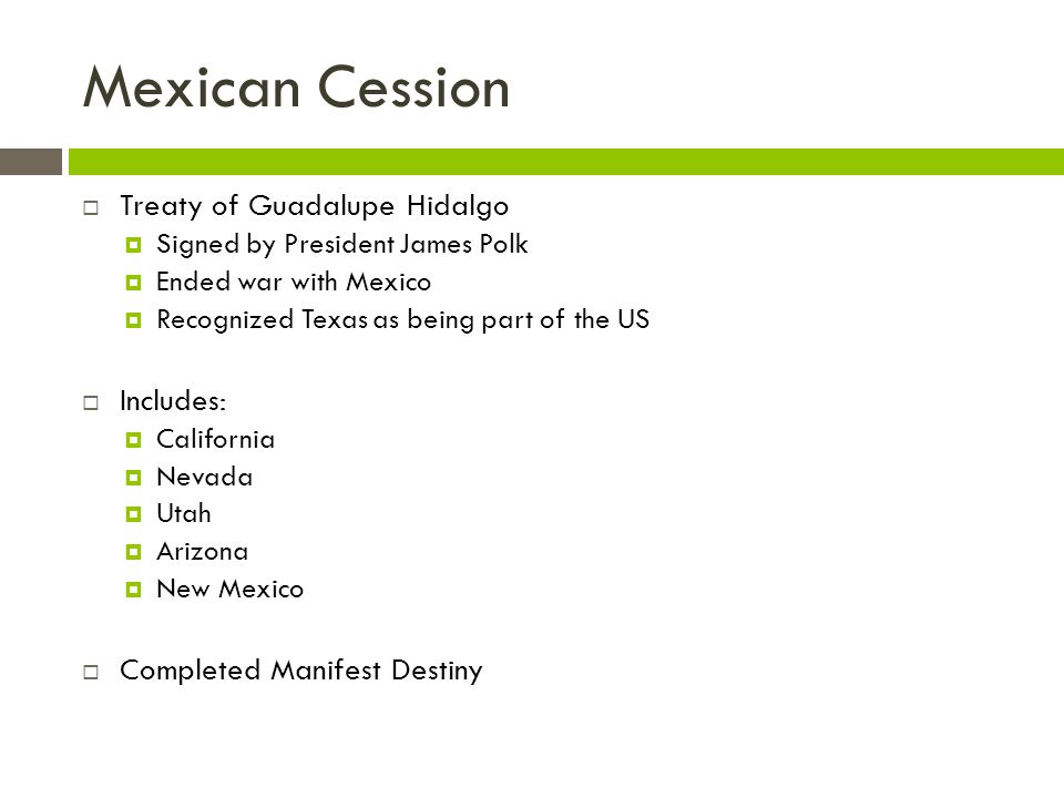 Mexican Cession Treaty of Guadalupe Hidalgo Includes: