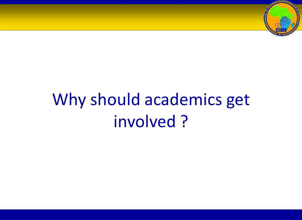 Why should academics get involved