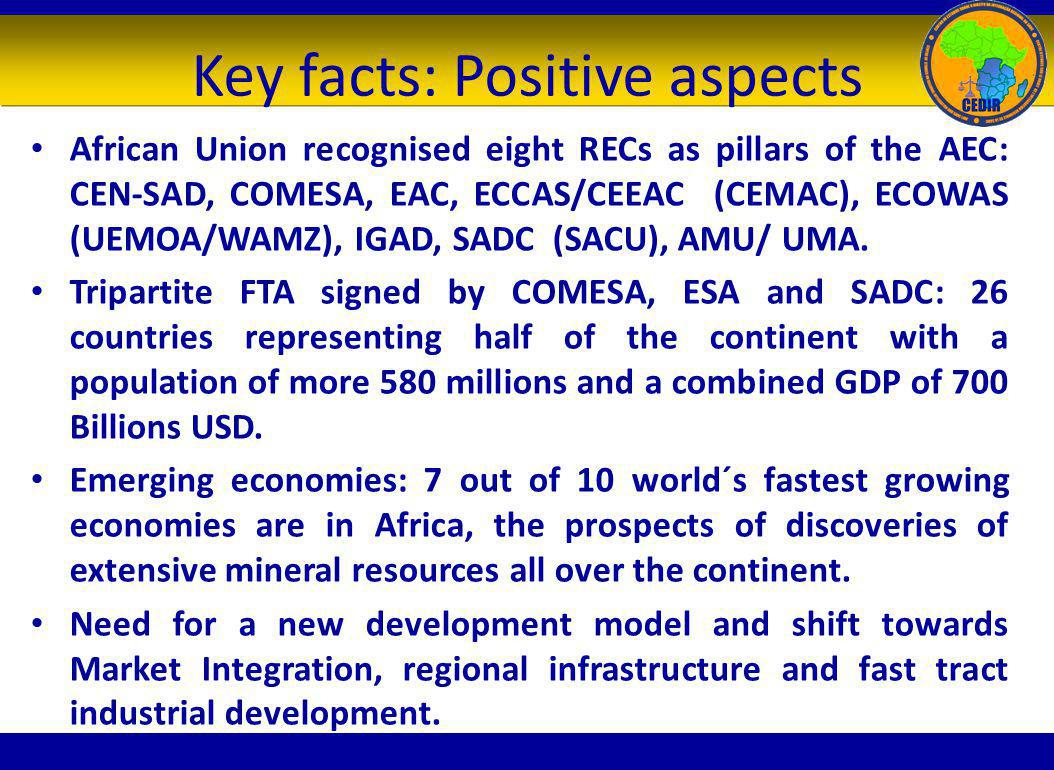 Key facts: Positive aspects