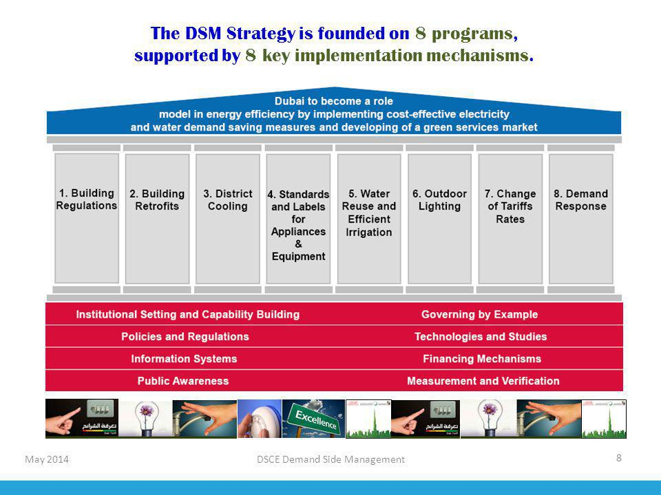 The DSM Strategy is founded on 8 programs,