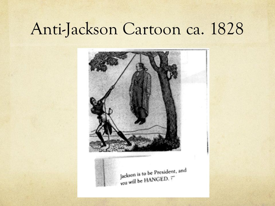 Anti-Jackson Cartoon ca. 1828