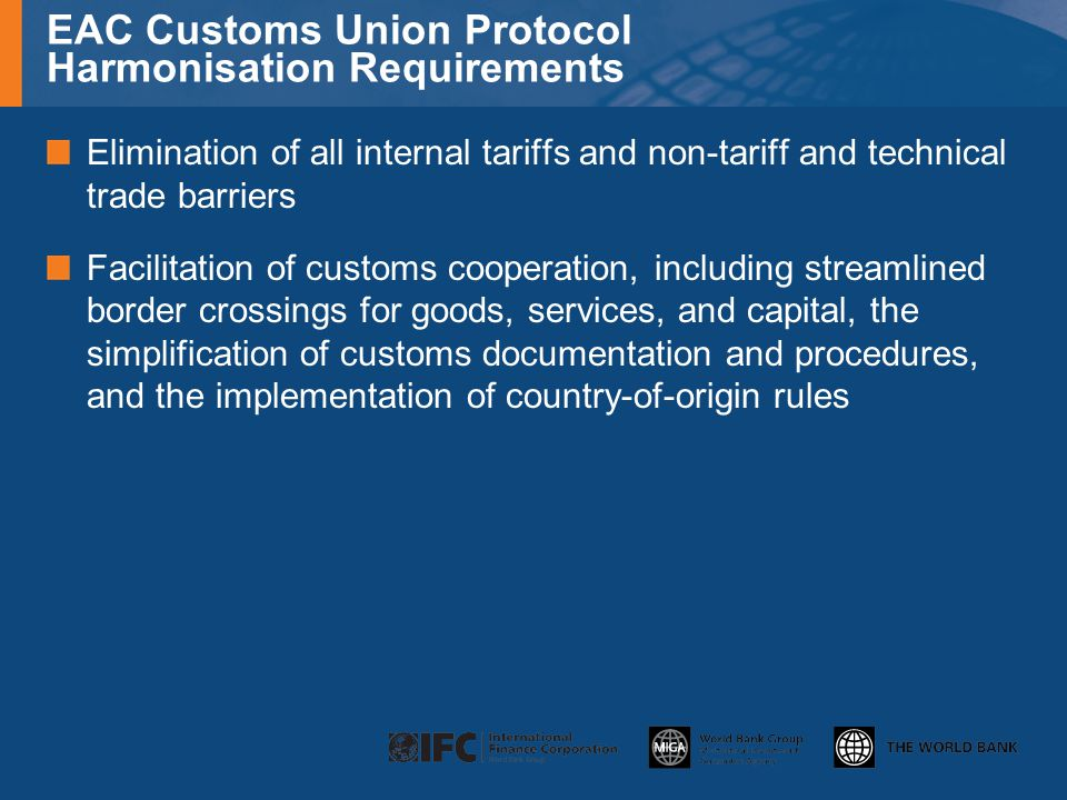 EAC Customs Union Protocol Harmonisation Requirements