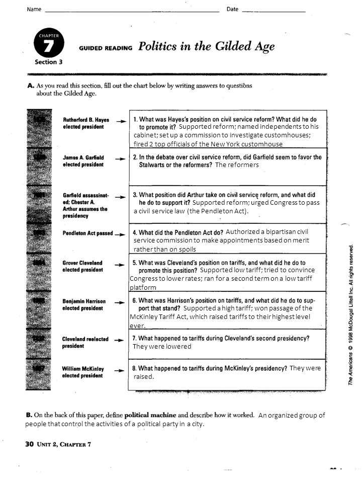 Ch 7 Immigration And Industrialization Guided Reading