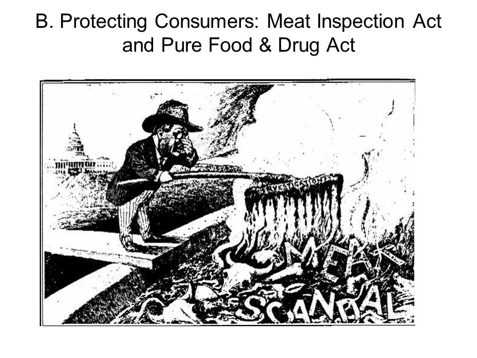 B. Protecting Consumers: Meat Inspection Act and Pure Food & Drug Act