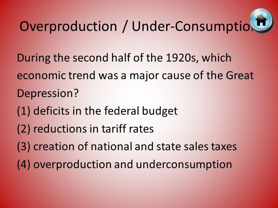 Overproduction / Under-Consumption