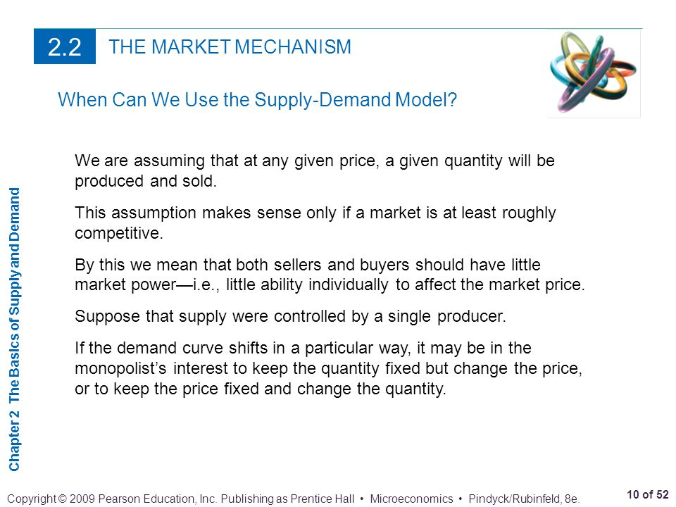 2.2 THE MARKET MECHANISM When Can We Use the Supply-Demand Model