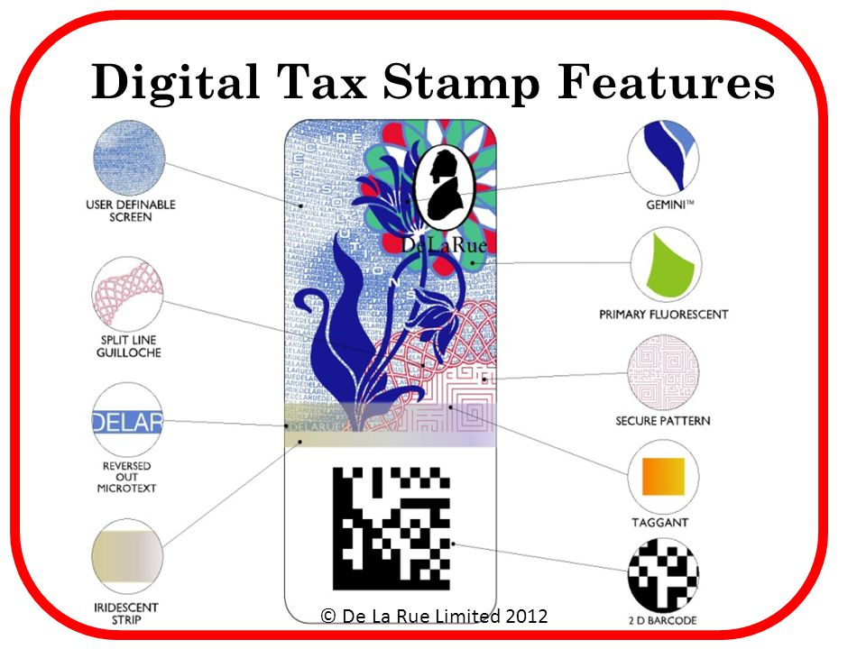 Digital Tax Stamp Features