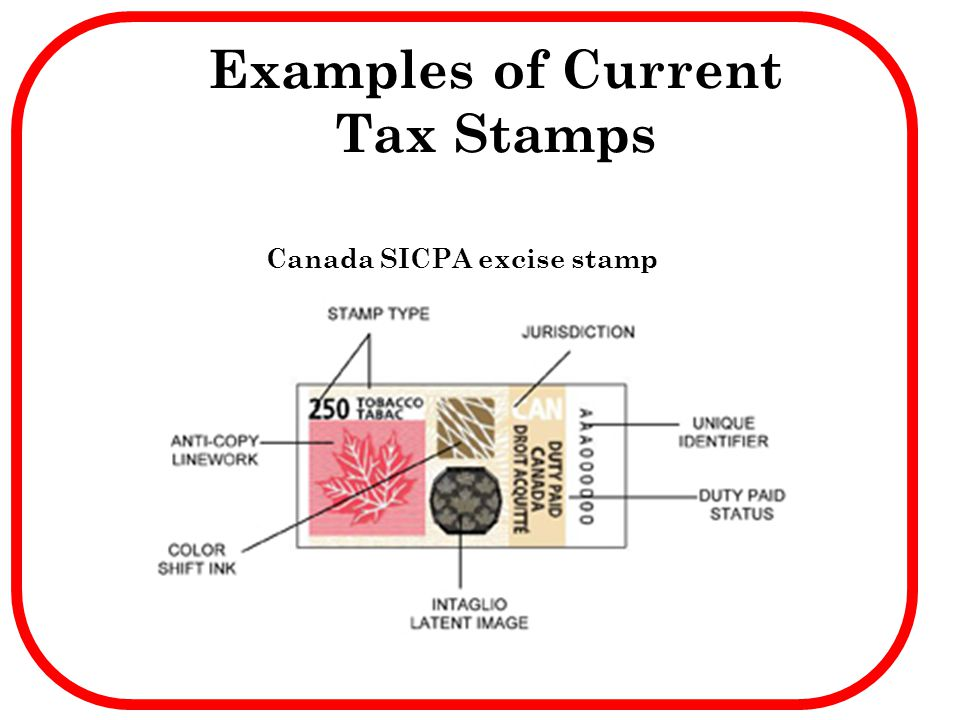 Examples of Current Tax Stamps