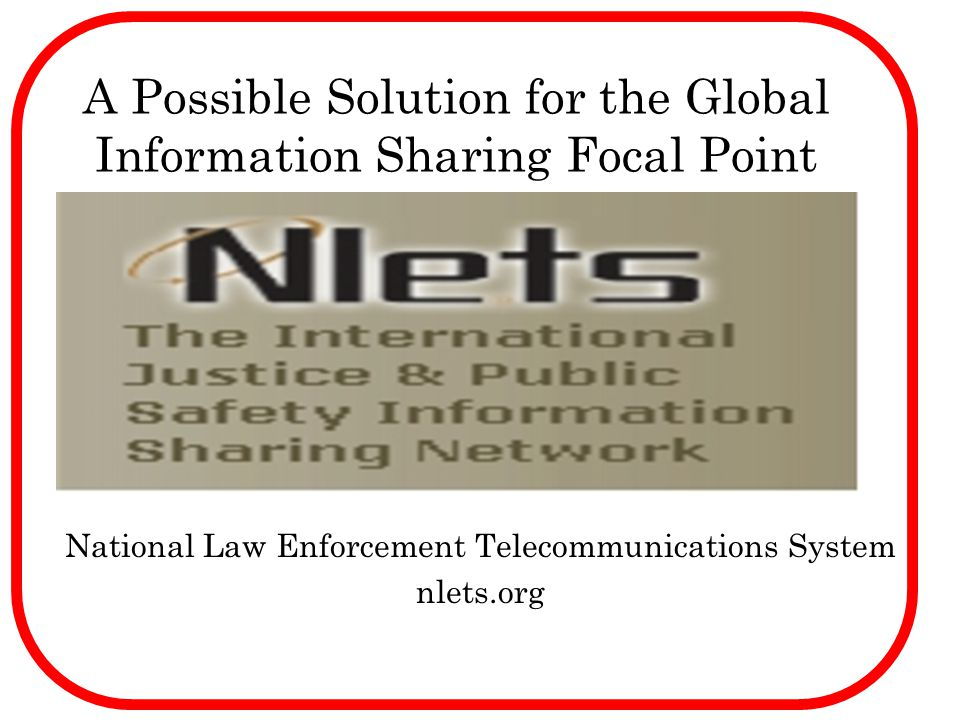 A Possible Solution for the Global Information Sharing Focal Point