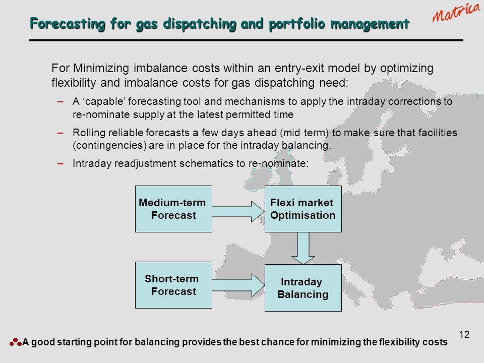 Forecasting for gas dispatching and portfolio management