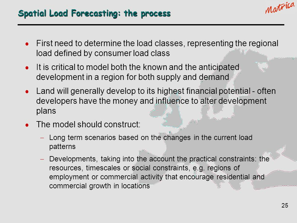 Spatial Load Forecasting: the process