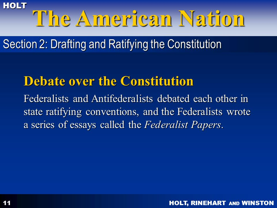 Debate over the Constitution