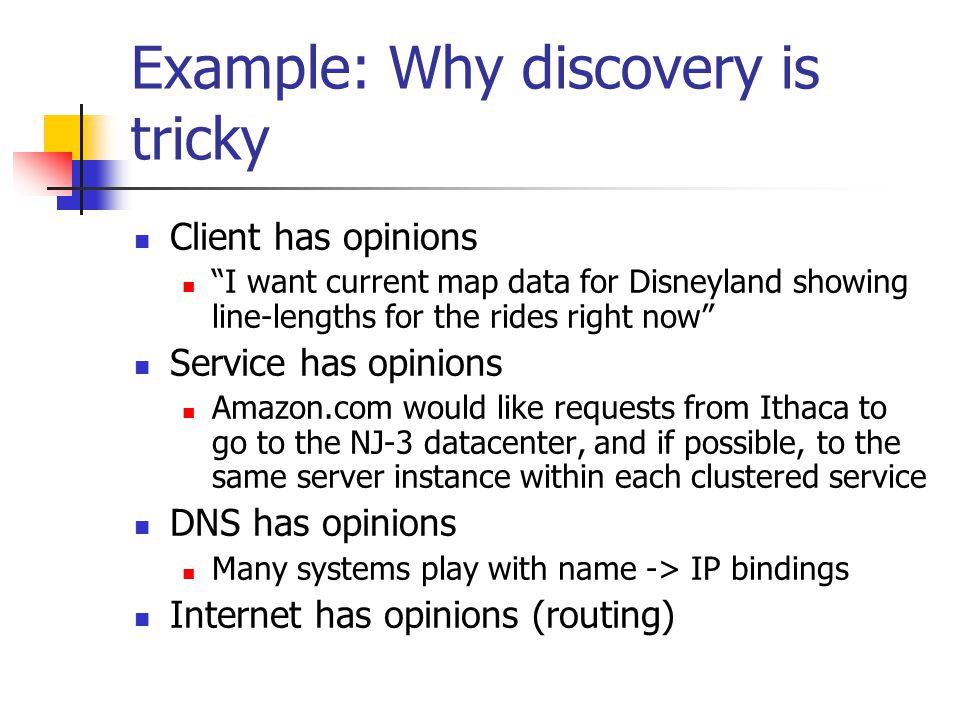 Example: Why discovery is tricky