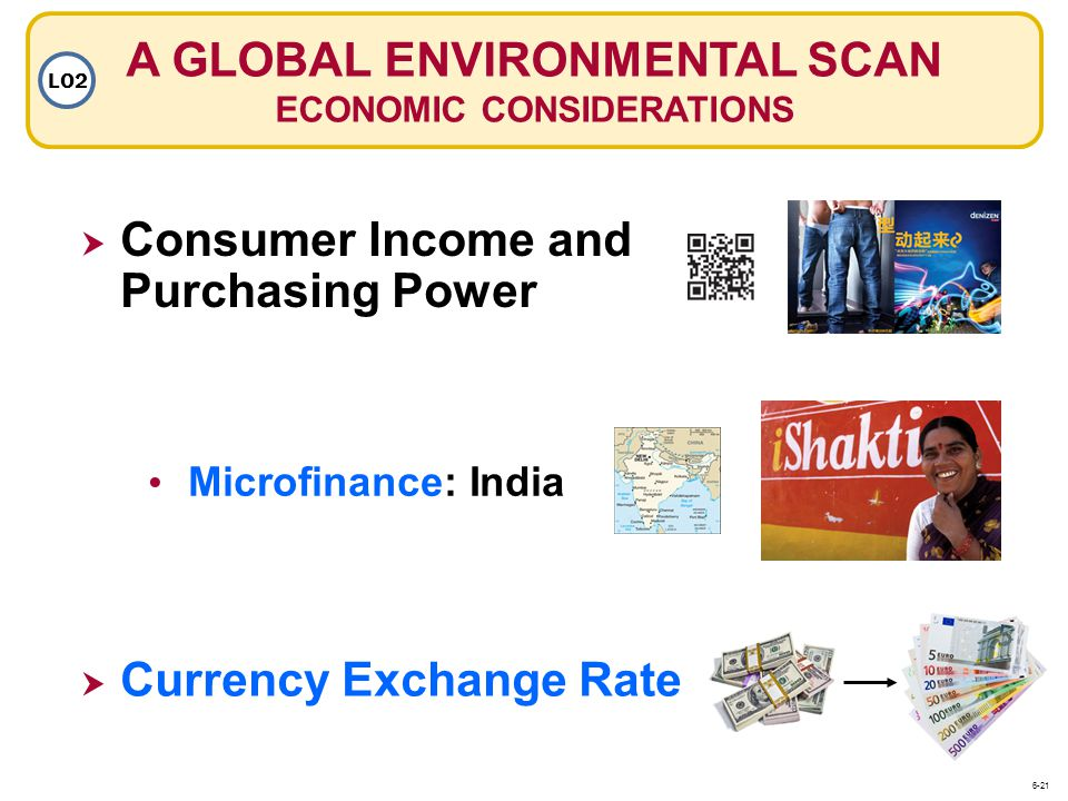 A GLOBAL ENVIRONMENTAL SCAN ECONOMIC CONSIDERATIONS
