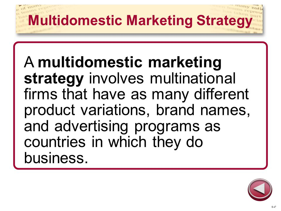 Multidomestic Marketing Strategy
