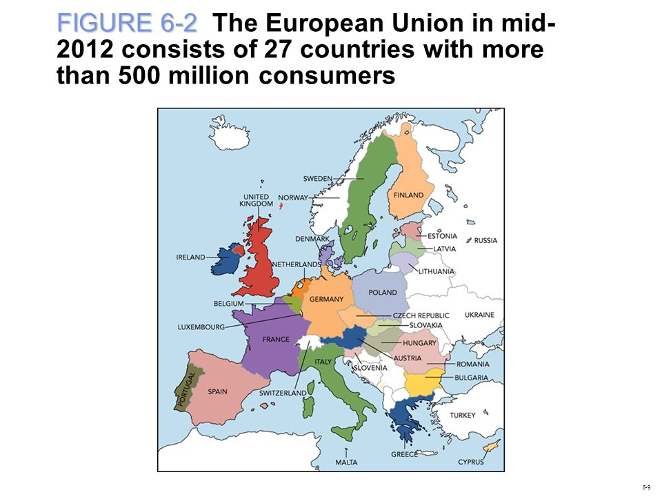 FIGURE 6-2 The European Union in mid-2012 consists of 27 countries with more than 500 million consumers