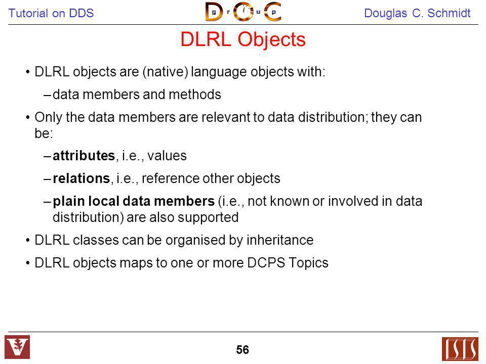 DLRL Objects DLRL objects are (native) language objects with: