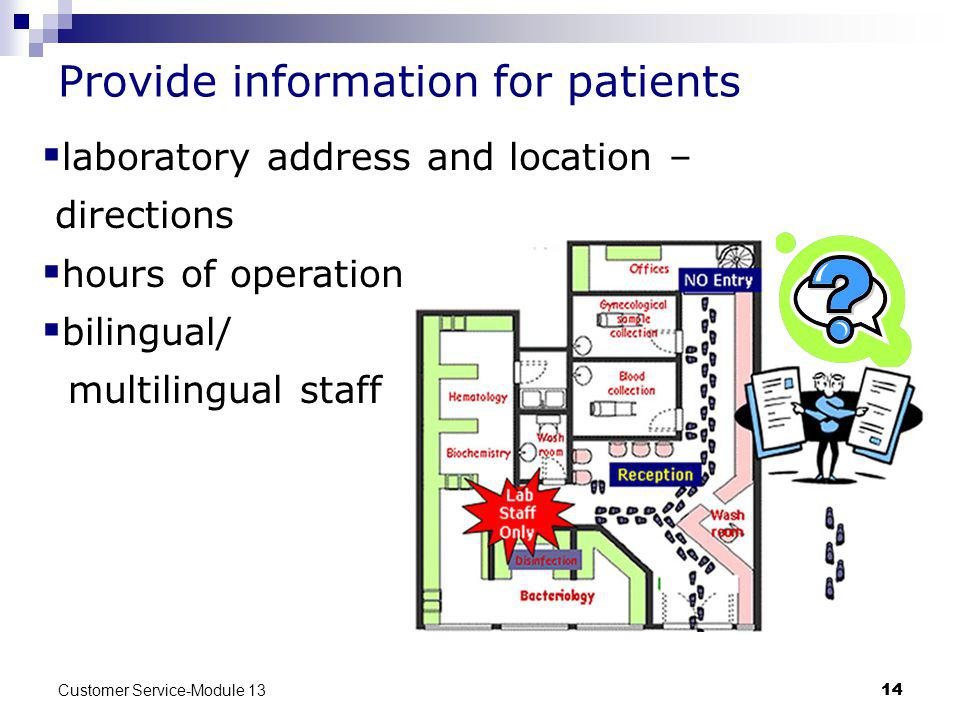 Provide information for patients