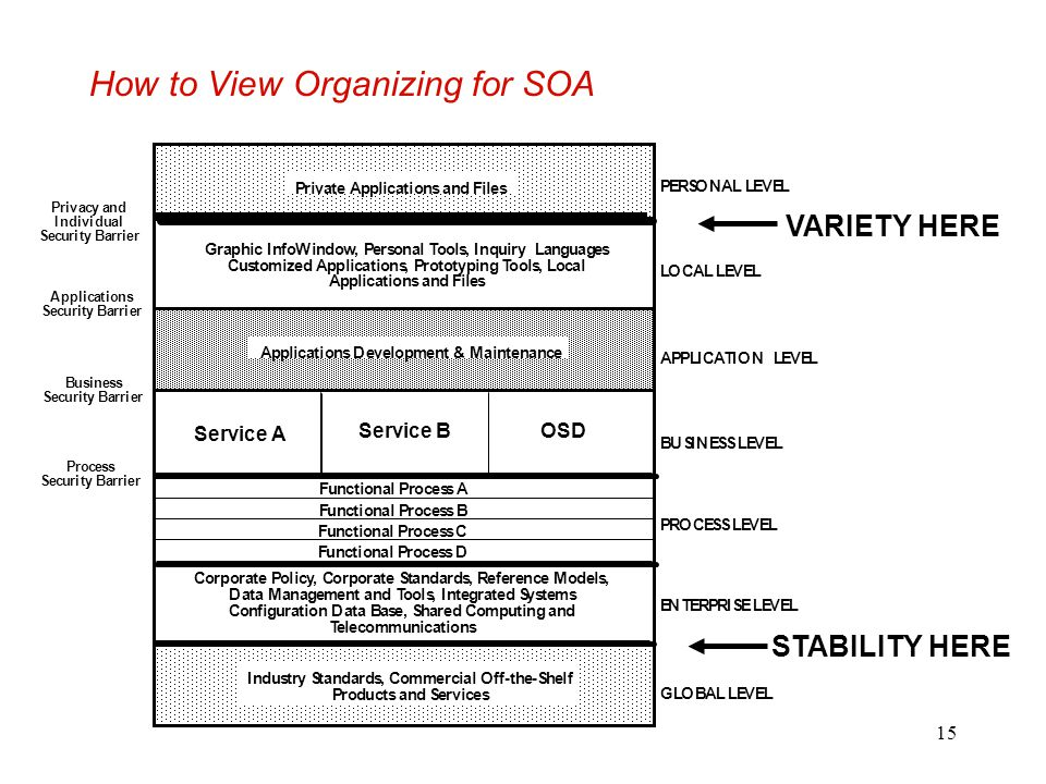 How to View Organizing for SOA