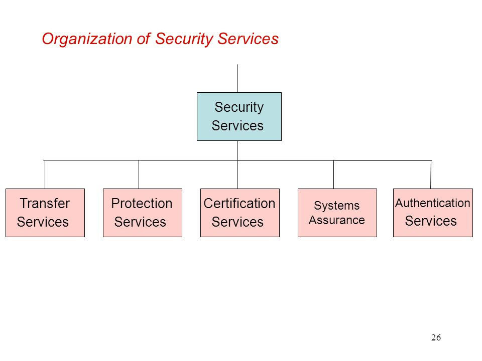 Organization of Security Services