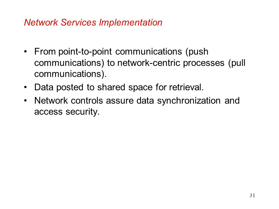 Network Services Implementation