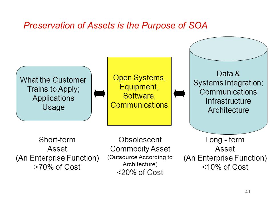 Preservation of Assets is the Purpose of SOA