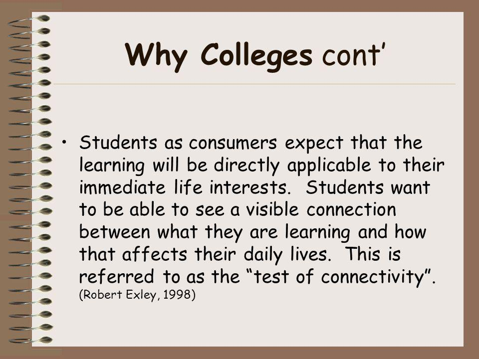 Why Colleges cont'