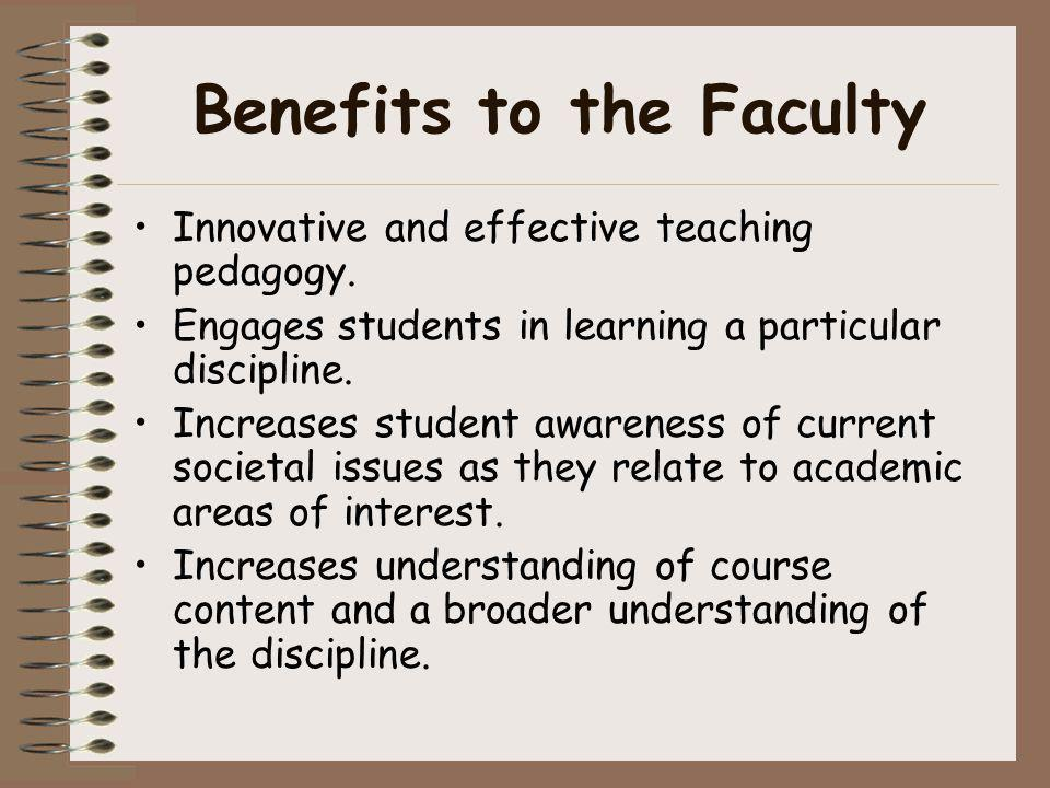 Benefits to the Faculty