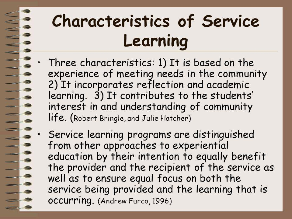 Characteristics of Service Learning