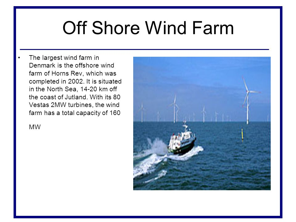 Off Shore Wind Farm