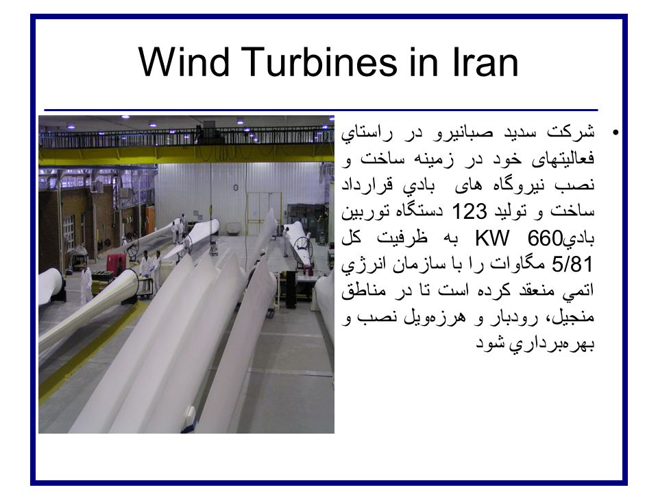 Wind Turbines in Iran