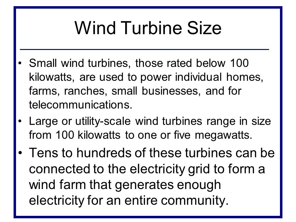 Wind Turbine Size