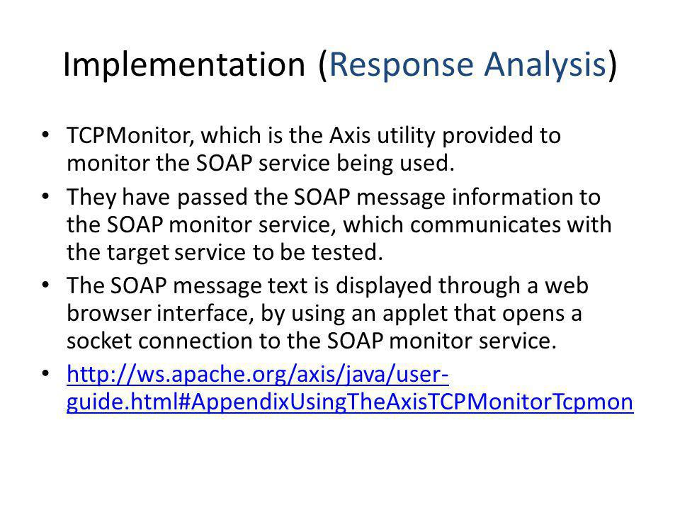 Implementation (Response Analysis)