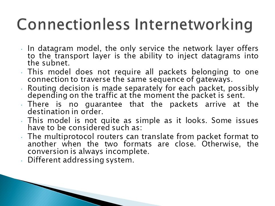 Connectionless Internetworking