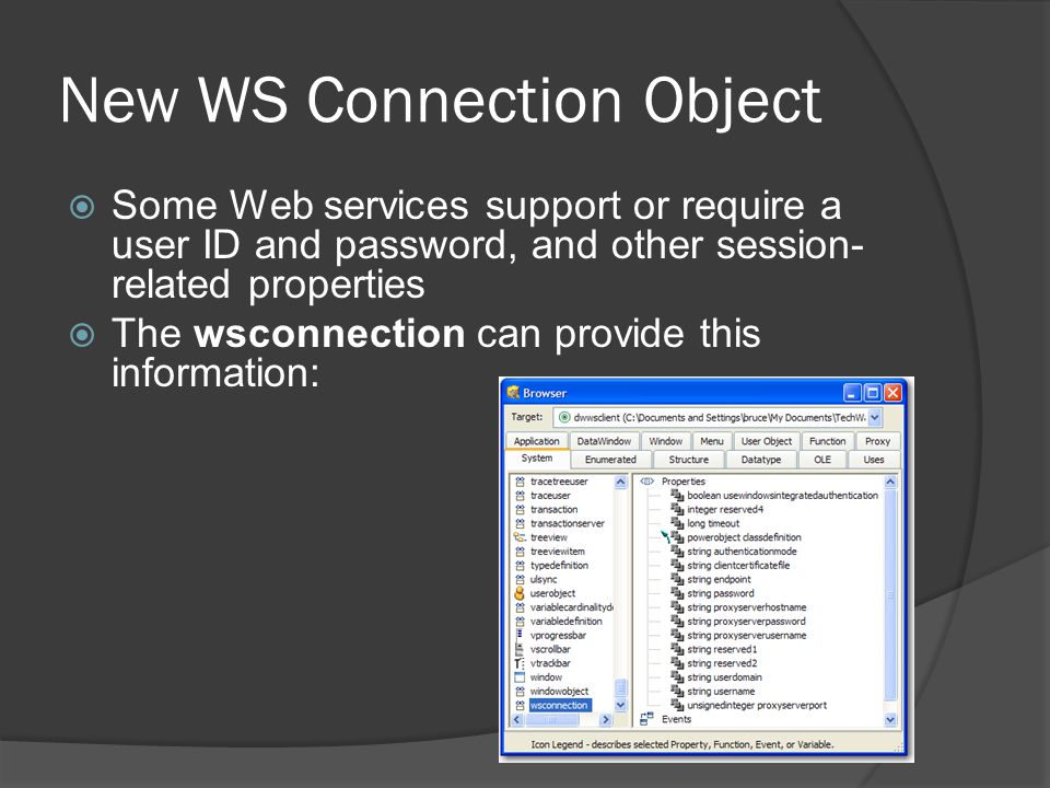 New WS Connection Object