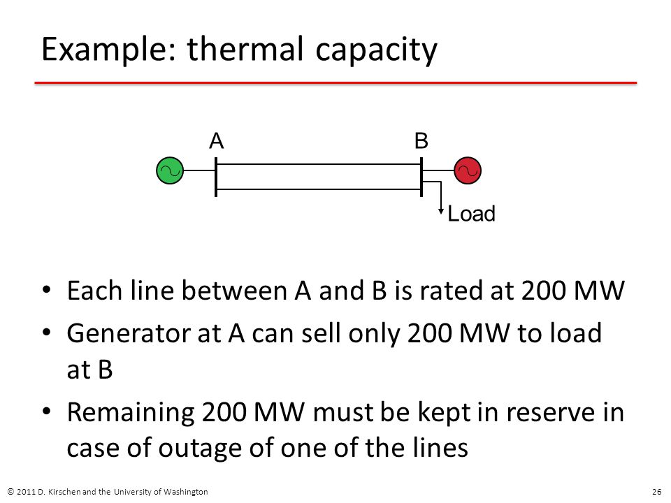 Example: thermal capacity