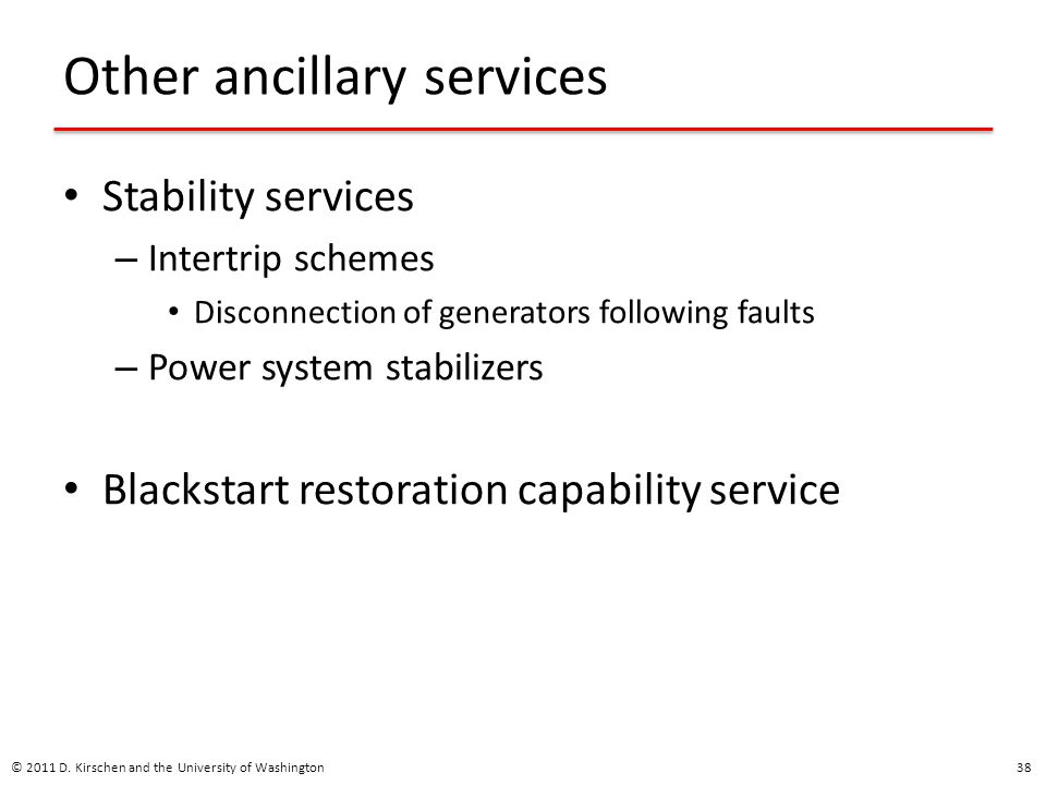 Other ancillary services