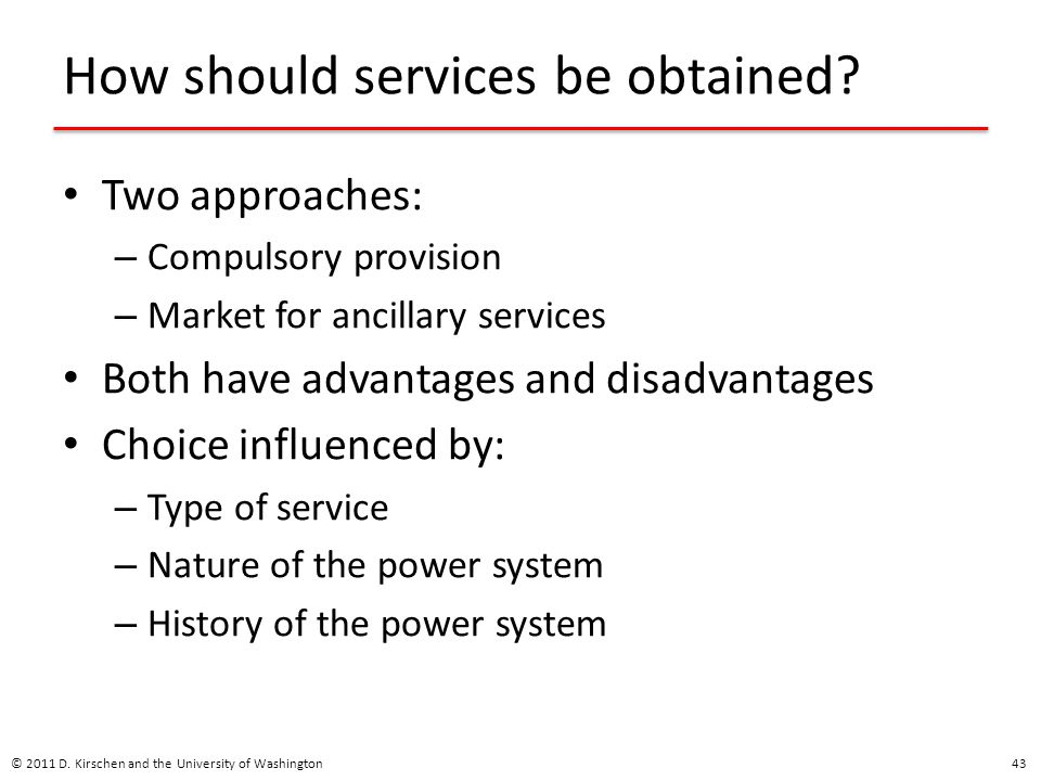 How should services be obtained
