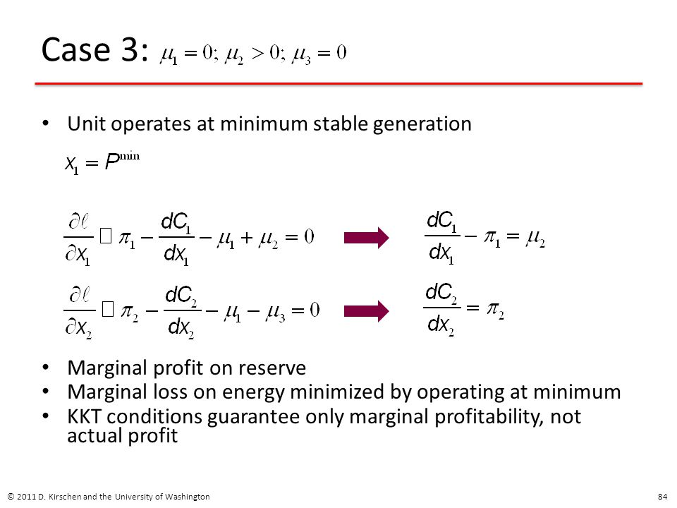 Case 3: Unit operates at minimum stable generation