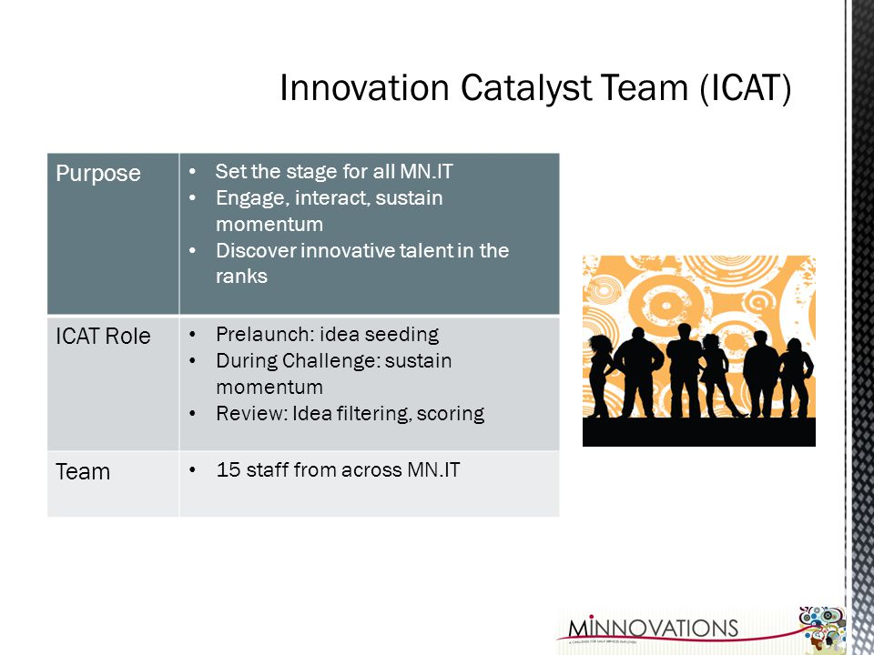 Innovation Catalyst Team (ICAT)